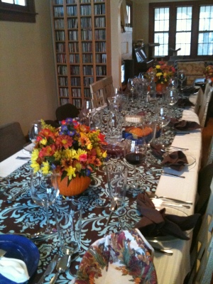 "The thanksgiving ""tablescape"" for my second Suliman Family Thanksgiving"